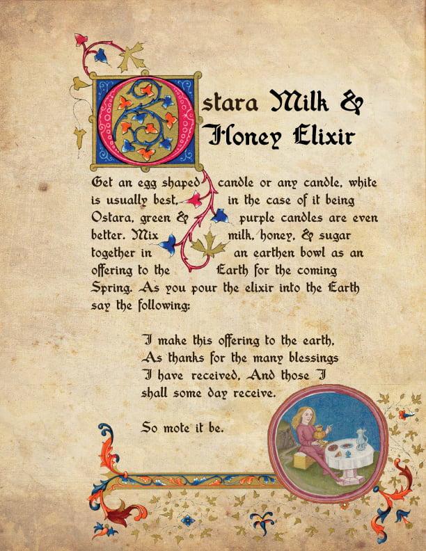 Ostara Milk & Honey Elixir BOS Page