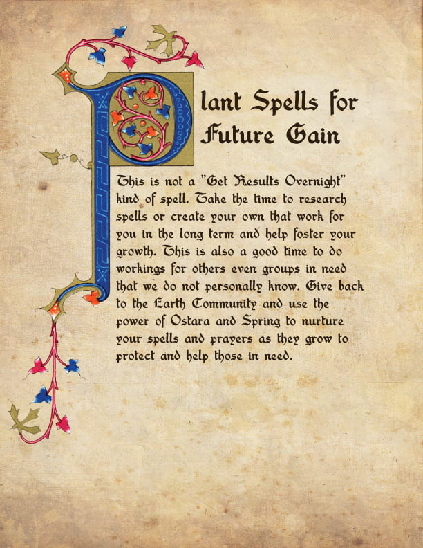 Plant Spells for Future Gain BOS Page