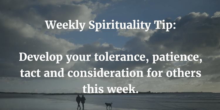Weekly Spirituality Tip: Consideration
