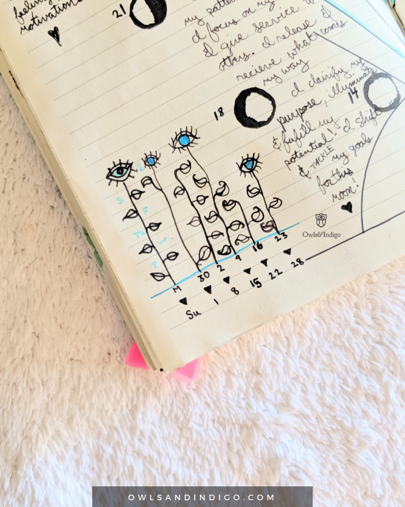 9th-Balsamic-Crescent-Moon-Monthly-Goals-Review-Plan-With-Me-Lunar-Goal-Setting-Journal-With-Me-3