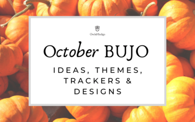 105 October Bullet Journal Ideas Themes Trackers & Designs for Fall, Autumn, & Halloween!