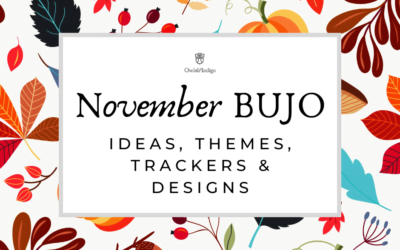 120 November Bullet Journal Ideas Themes Trackers & Designs for Fall, Autumn, Thanksgiving, Friendsgiving, & The Holidays